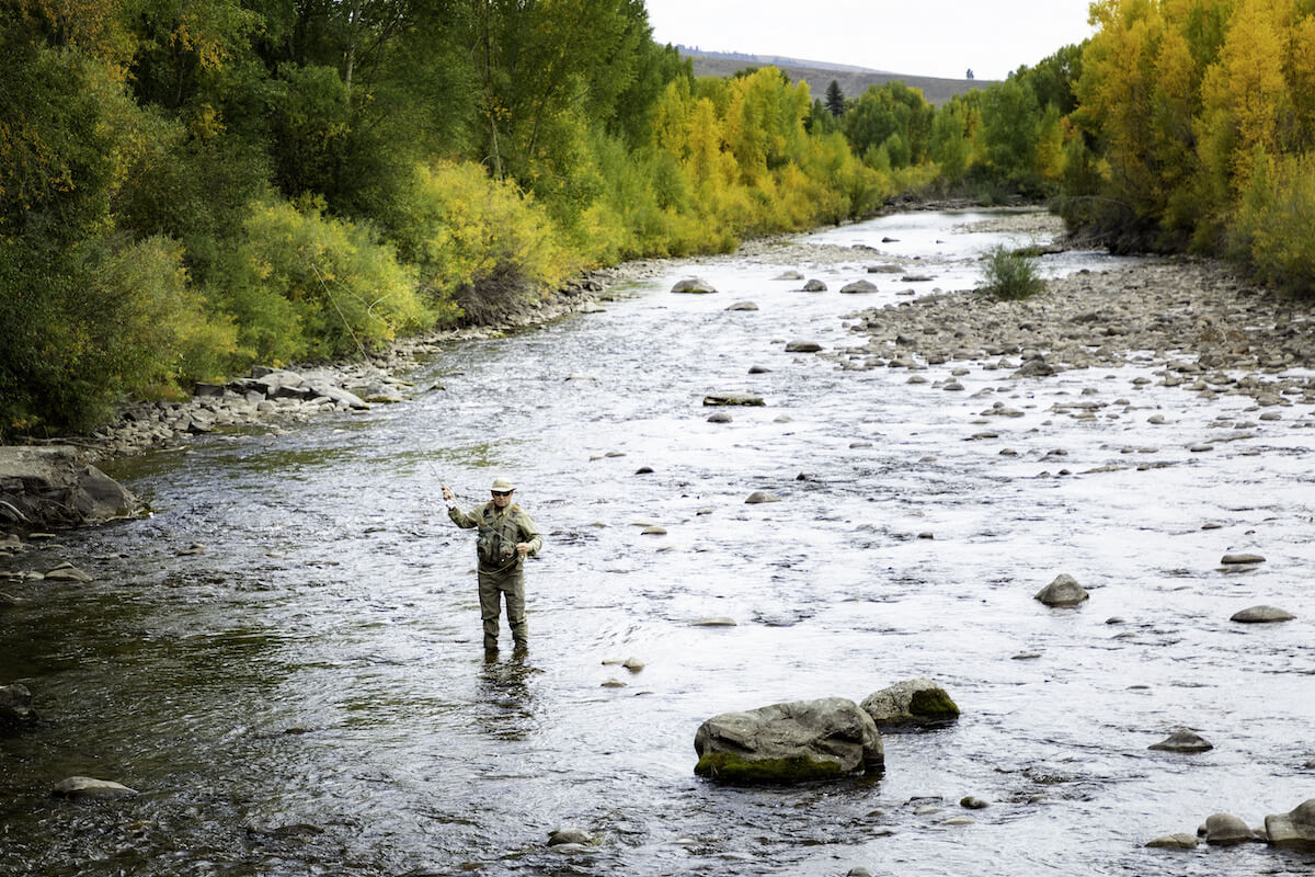 Fly fishing in Steamboat Springs Colorado
