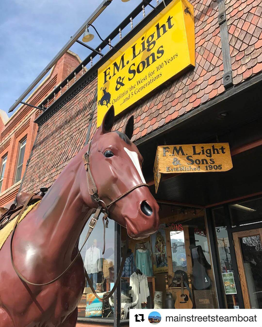 FM Light and Sons Storefront Entrance in Steamboat Springs Colorado