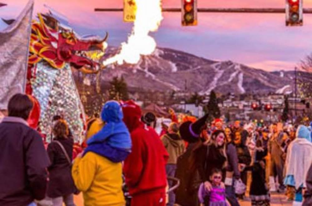 Main Street Halloween Stroll in Downtown Steamboat Springs Colorado