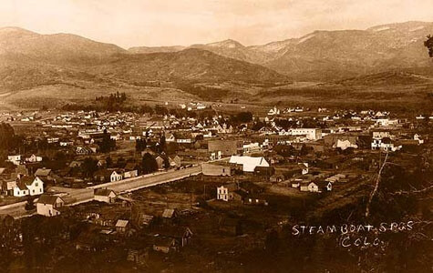 Historical Photo of Steamboat Springs CO