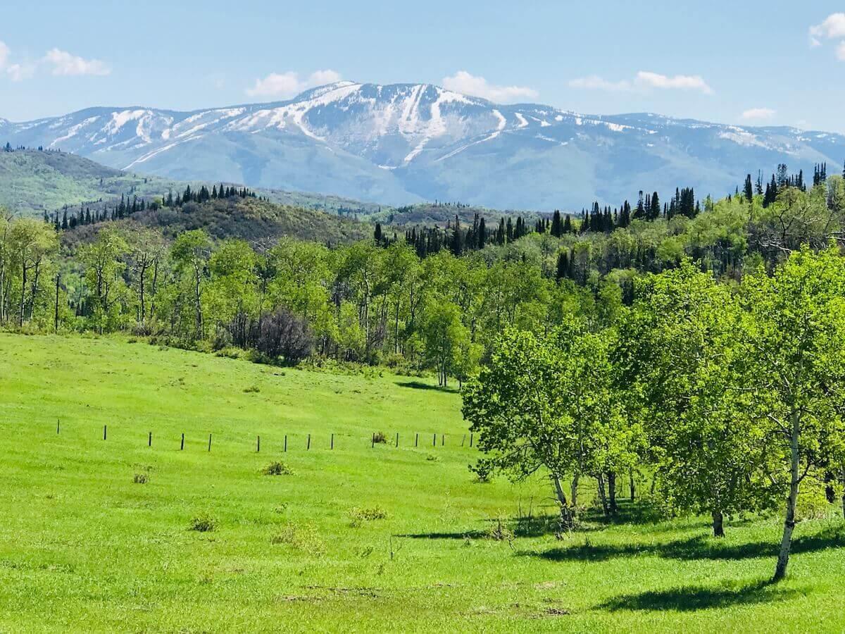 Springtime in Steamboat Springs Colorado
