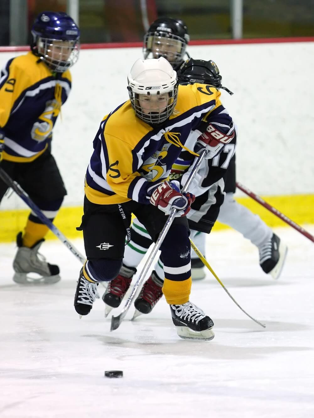 Young Hockey Player on Steamboat Stampede in Steamboat Springs Colorado
