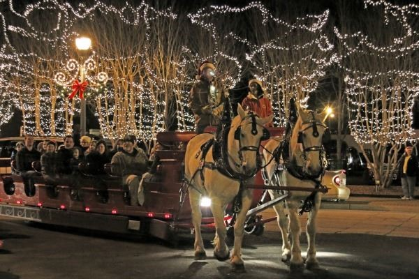 Haunted Trail Fuquay Varina - Horse Drawn Carriage Ride through lights