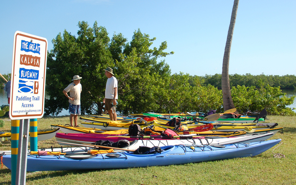 Blueway Launch Site - Photo courtesy of the Great Calusa Blueway Flickr Page