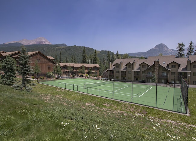 Cascade Village Tennis Courts in Durango Colorado
