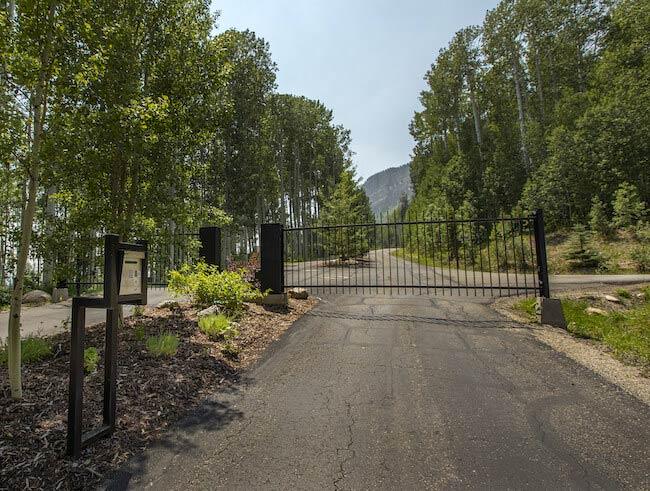 Castle Rock Gated Entrance in Durango Colorado