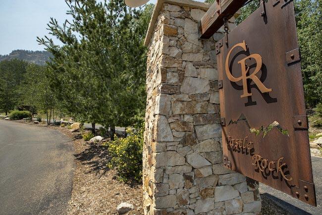 Castle Rock Neighborhood Sign in Durango Colorado