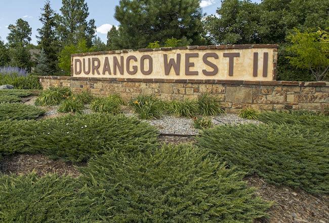 Durango West II Neighborhood Sign in Durango Colorado