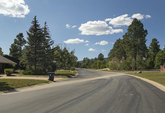 Durango West II Neighborhood Street in Durango Colorado