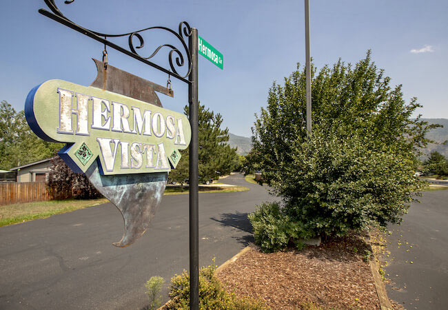 Hermosa Vista Neighborhood Sign in Durango Colorado