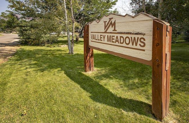 Valley Meadows Community Sign in Durango Colorado