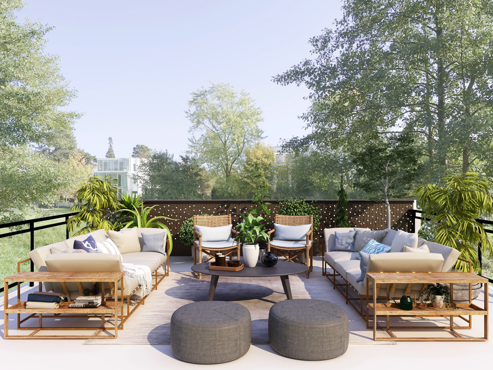 Outdoor furniture for your penthouse