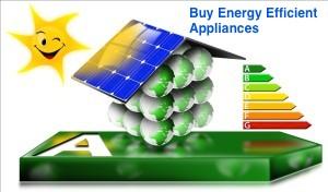 Buy Energy Efficient Appliances