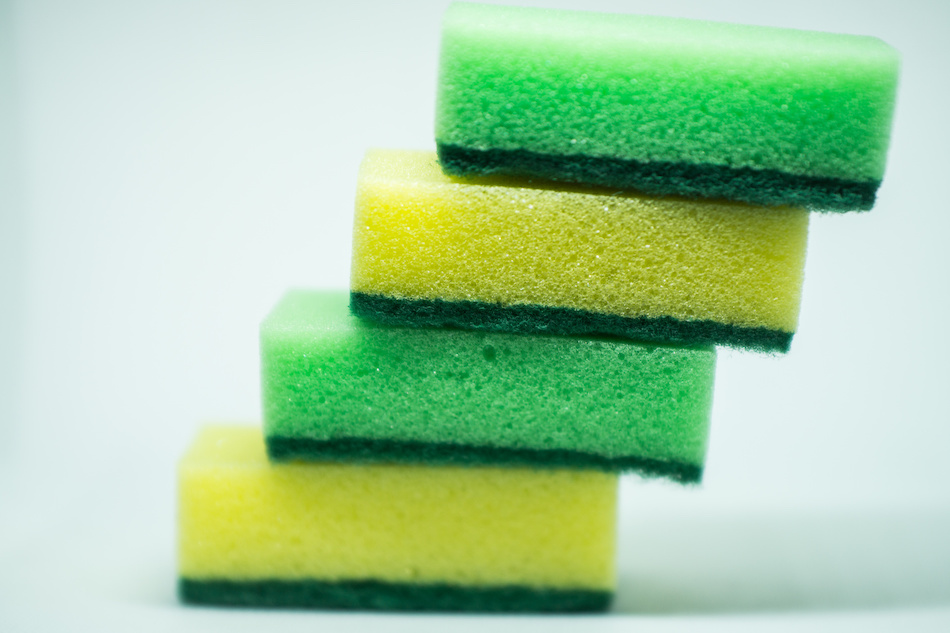 Clean Sponges in Kitchen