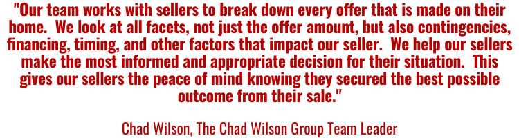 Chad Wilson Quote About Seller Offers