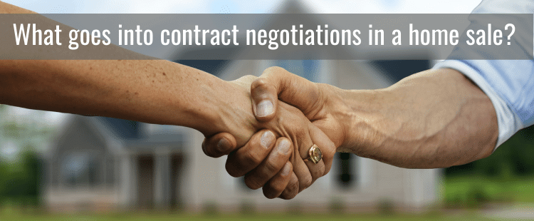 Home sale contract negotiations