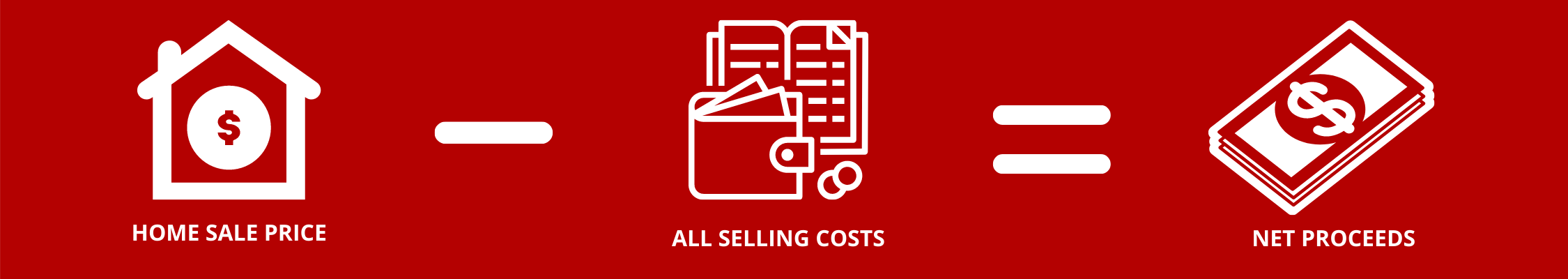 Home sale net proceeds calculation