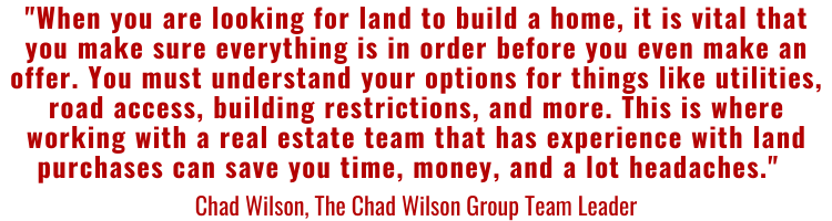 Buying land quote