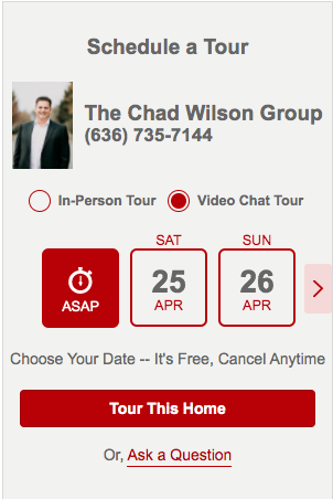 Schedule a Video Chat Tour