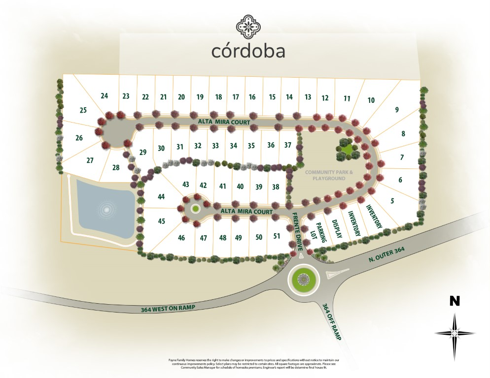 Cordoba Site Map