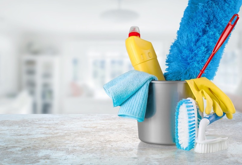 Using Bleach and Other Cleaning Tools