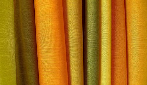 colorful drapery fabric