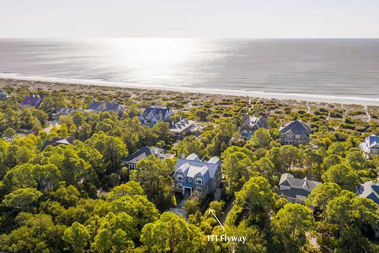 Aerial Photo of Kiawah Island and the Ocean
