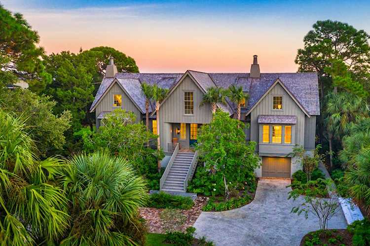 Drone Photo of Luxury Home on Sullivan's Island