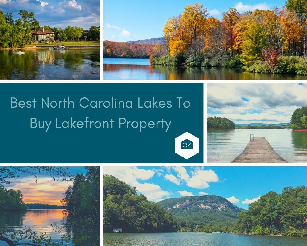 Photos of lakes in North Carolina, lake house, and boat docks