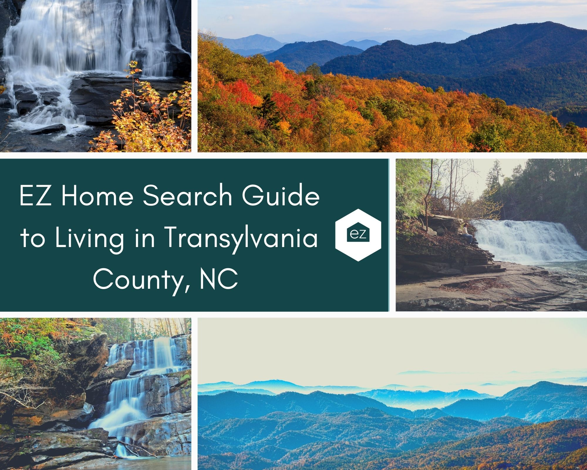 Photos taken from Transylvania County, NC with waterfalls and mountains