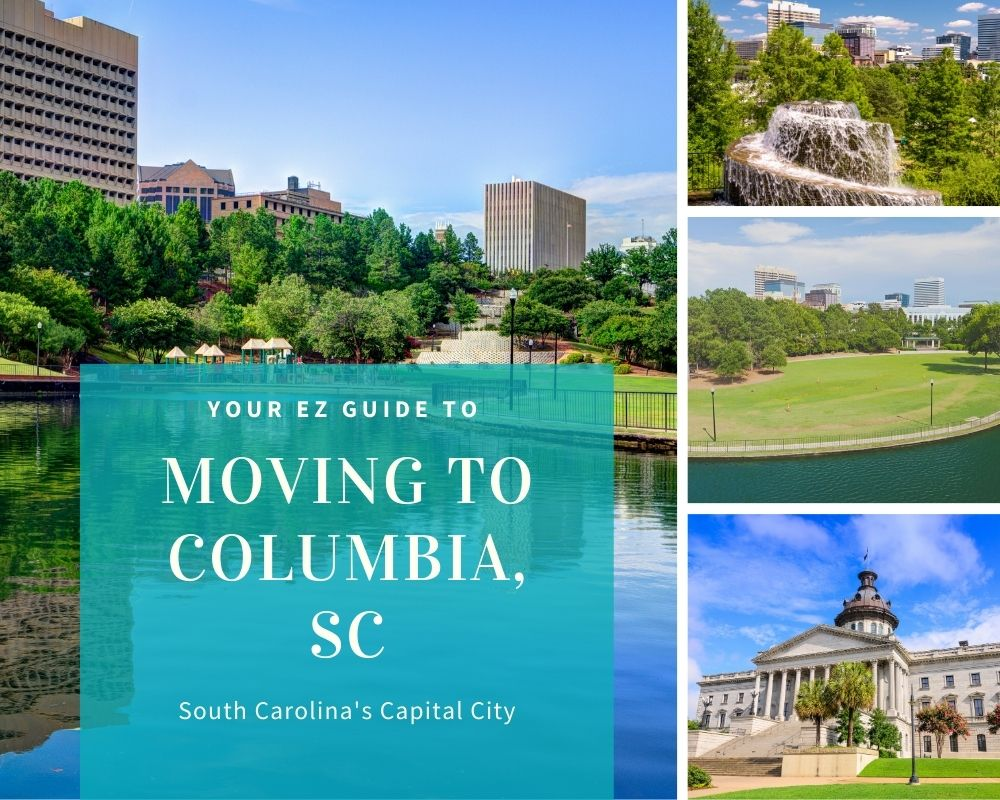Photos from Columbia South Carolina with buildings, trees, and skyline