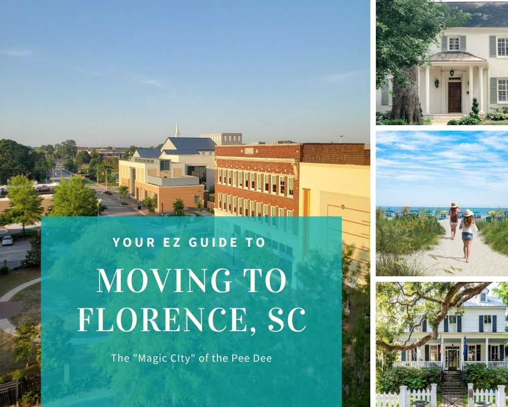 Picture of downtown florence, sc, houses and nearby beaches