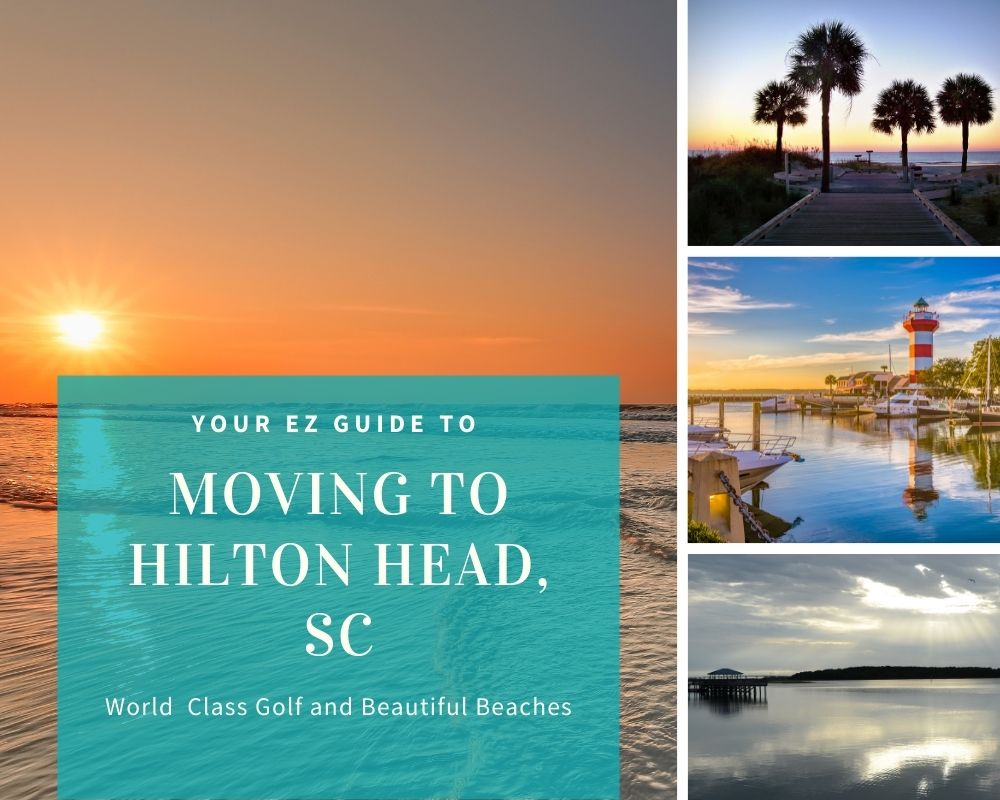 Photos from Hilton Head, SC golf course, water, palm trees, and light house