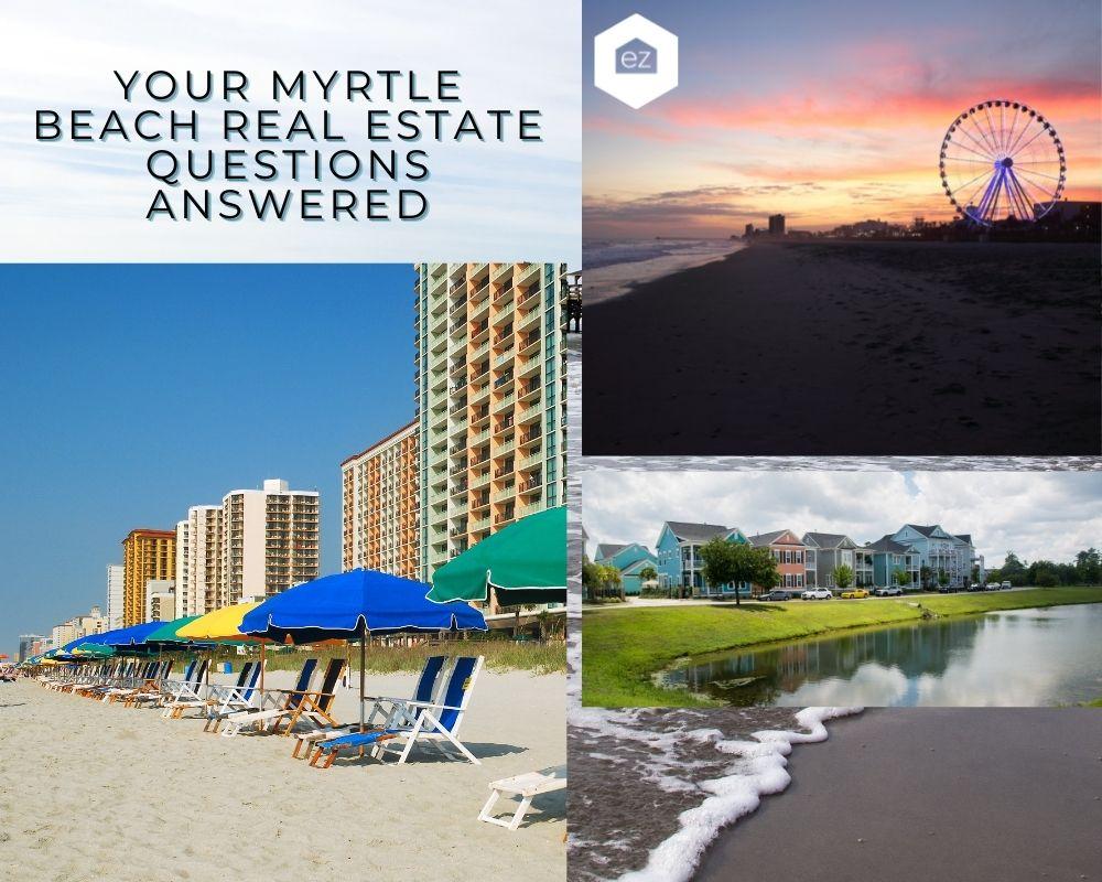 Phots of Myrtle Beach oceanfront, Myrtle Beach skyweel, and pier