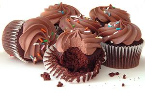 chocolate Cupcake with rainbow sprinkles