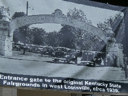 Banner at 2010 KY State Fair Showing the Entrance to the 1939 KY State Fair