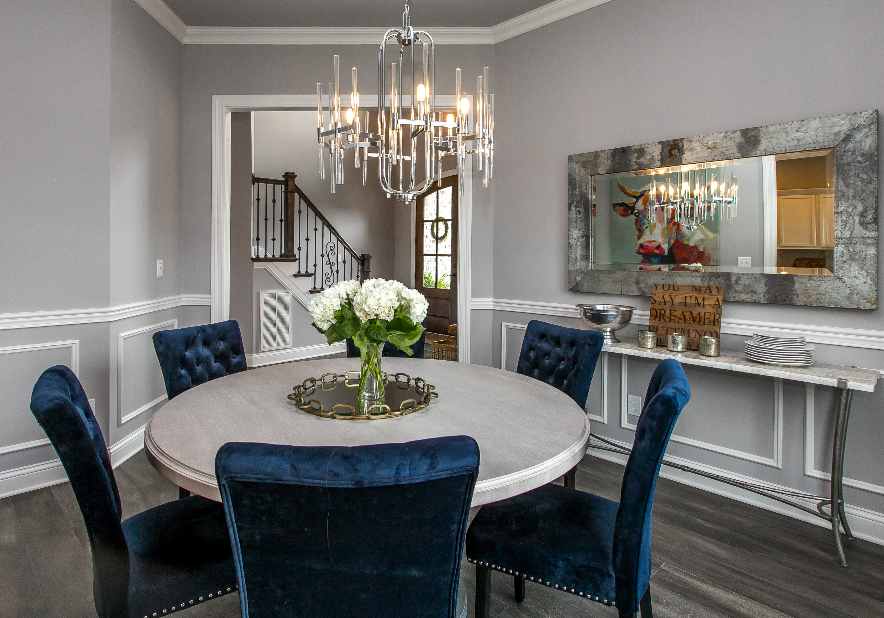 picture of round dining room table in lexington ky