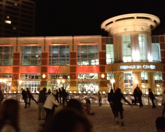 ice skating in Triangle Park in Lexington