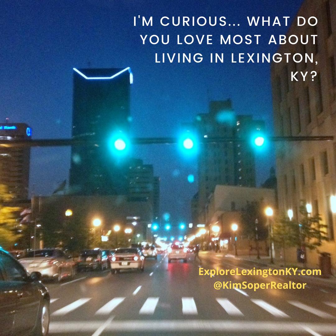 picture of downtown lexington ky at dusk