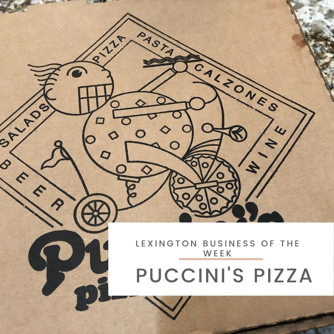 Pizza from Puccini's Pizza in Lexington
