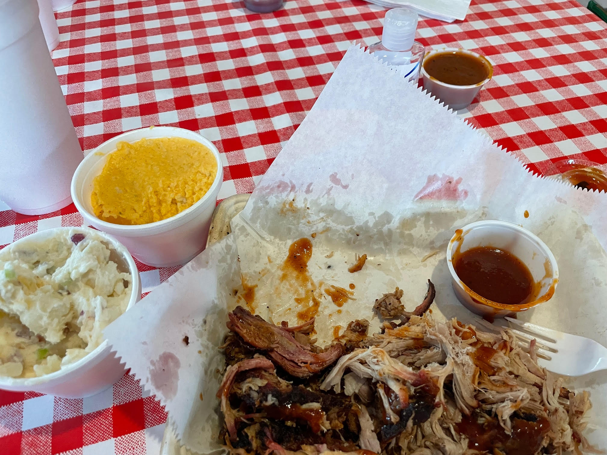 BBQ pulled pork lunch at Red State BBQ in Lexington KY near the KY Horse Park by Kim Soper Realtor