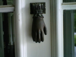 Door knocker at Trolly home in Paris KY