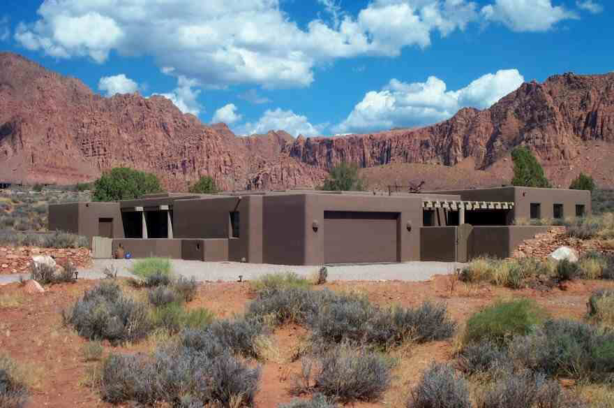 Adobe Style Home in Kayenta - Built 3 Feet In The Ground