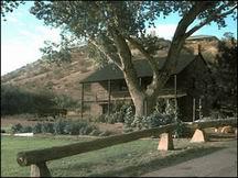 Jacob Hamlin Home, Old Santa Clara, sits near the Santa Clara River