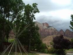 Zion National Park inside Springdale Utah