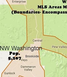 NW Washington County Utah Map
