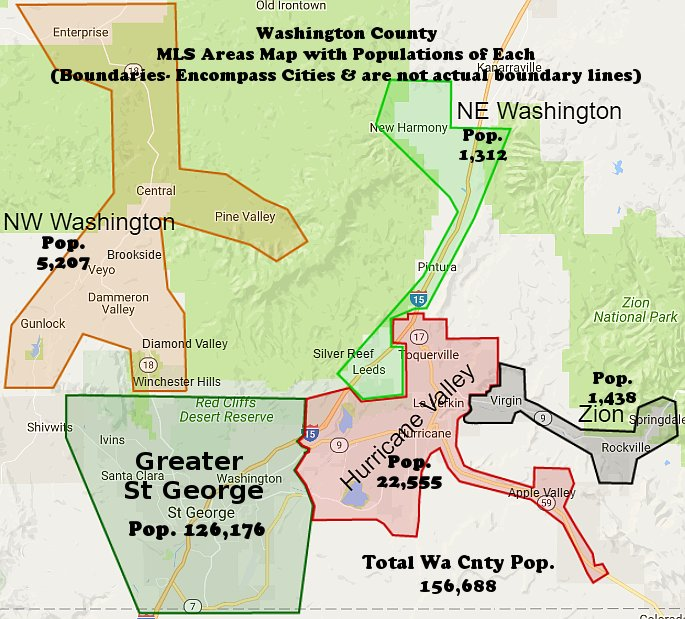Washington County MLS Area Map