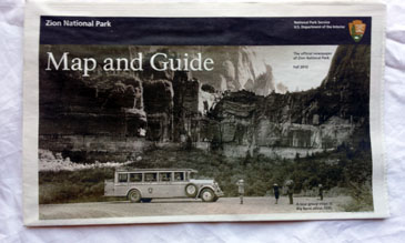 1 Southern Utah Area Attraction Pamphlet- Zion National Park Map and Guide