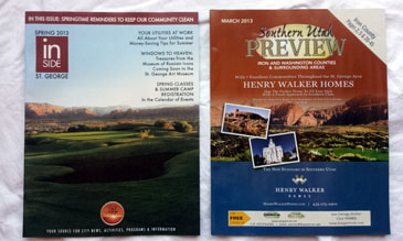 2 St George Magazines- Inside St George, Southern Utah Preview