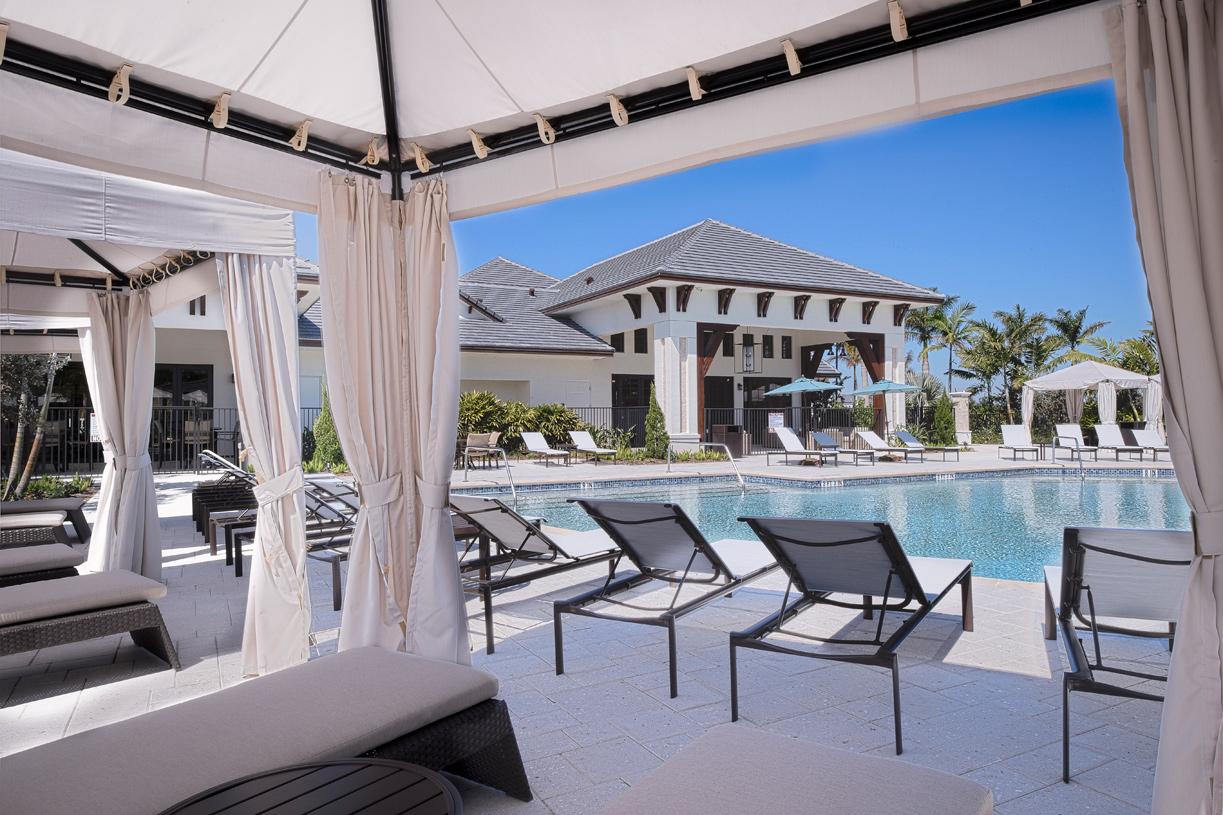 Pool Side Amenities At Royal Palm Polo - Boca Raton